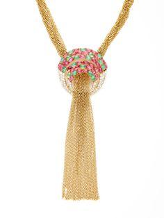 House of Lavande Trifari Open Circle & Multi-Strand Necklace