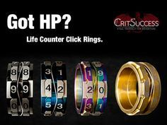 Life Counter HP Click Rings. For keeping any score or HP from 1-100. Great for Magic the Gathering.