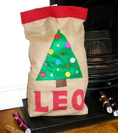 make your own christmas santa sack kit by little dress kits | notonthehighstreet.com
