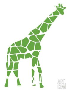 Green Reticulated Art Print by Avalisa at Art.com