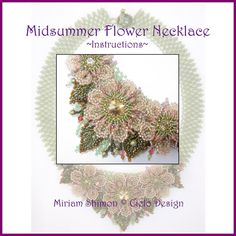 Midsummer Flower Necklace Instructions by MiriamShimon on Etsy, $17.00