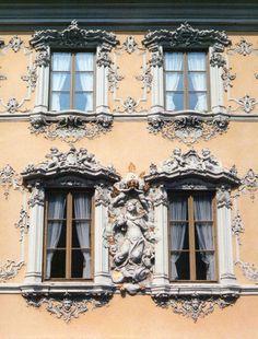 Baroque windows in Wurzburg, Germany. by pivpao