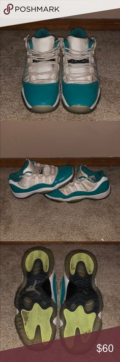 0c28e26c398 Aqua Jordan 11 lows Good condition size 5.5y Air Jordan Shoes Sneakers Jordan  11 Low