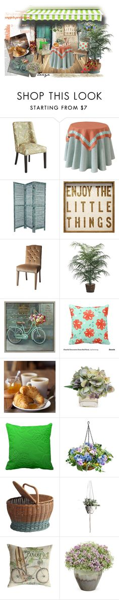 """""""Enjoy The Little Things"""" by tazyaa ❤ liked on Polyvore featuring interior, interiors, interior design, home, home decor, interior decorating, Pier 1 Imports, Green Leaf Art, Williams-Sonoma and The French Bee"""