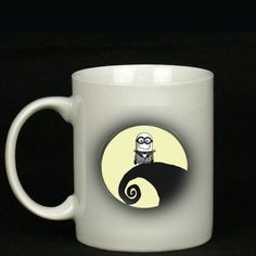 little minion nightmare before mug /Coffee mug by Pearlydesignz