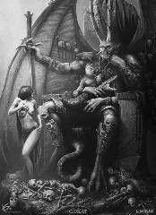 Fantasy Wolf, Dark Fantasy Art, Fantasy Artwork, Dark Art, Giger Art, Scary Animals, Fantasy Tattoos, Satanic Art, Ancient Magus Bride