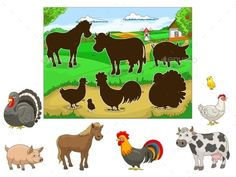 Buy Match the Animals to their Shadows Child Game by AlexanderPokusay on GraphicRiver. Match the animals to their shadows child game cartoon hand drawn vector illustration Pre K Activities, Toddler Learning Activities, Animal Activities, Montessori Activities, Animal Games, Preschool Worksheets, Teaching Kids, Kids Education, Games For Kids