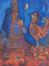 Резултат слика за blue painting chagall