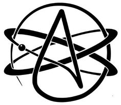 Atheist Symbol Vinyl Decal Sticker - 8BitThis.com - Geek Wear, Gear, and Rants!