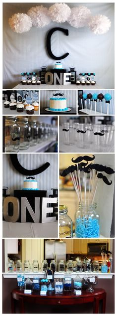 Little Man Party for my son's first birthday :) -- I totally think my little cousin would love this! @Jessica Jones