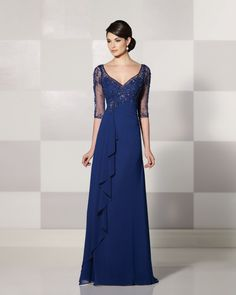 Find More Mother of the Bride Dresses Information about Cheap Chiffon Navy Blue…
