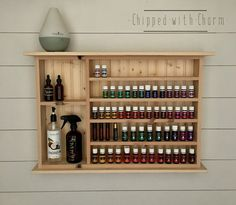 Large Unfinished Essential Oil Shelf Essential by ChippedWithCharm
