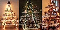 Štafle mohou posloužit jako krásná vánoční dekorace