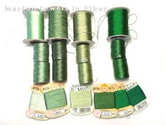 Compare C-Lon Bead Colors with Silks and Chinese Knotting Cord