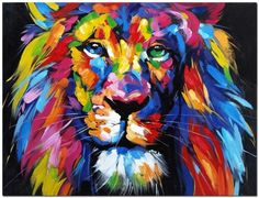 Painting Colored Lion