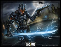 Mob Wars - La Cosa Nostra  #kanoapps #concept art #boss art #cyber #warrior #sword #robot #art #photoshop #digital art #wacom Cyber Ninja, Game Art, Concept Art, Photoshop, War, Robot Art, Character Ideas, Artwork, Boss