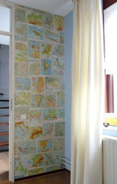 Like the wall decoration Home Bedroom, Kids Bedroom, Kids Globe, Home Goods Decor, Home Decor, Baby Boy Rooms, Nursery Room, Wall Design, Home