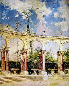 The Colonade in Versailles Giovanni Boldini - Date unknown