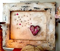 DecoArt Mixed Media Blog – Love is All You Need Frame with Crackle