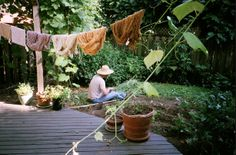 Sweet picture, what it really matters.. Cloths on line, beautiful garden, peaceful and lots of LTC!
