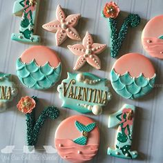 Sweet Mermaid Bliss cookies for Valentina's first birthday!!!