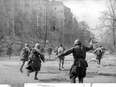 April 21 1945 Soviet forces under General Zhuokov engage German defenders in and around the city in the opening stages of the Battle of Berlin.