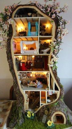 Tree doll or fairy house