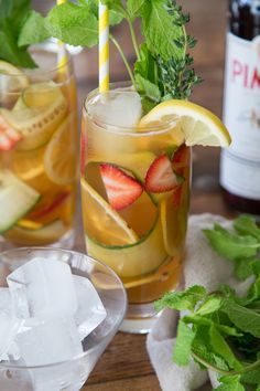 Pimm's Cup // What's Gaby Cooking! Just in time for the start of Wimbledon!