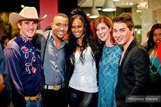 Levi Crocker (A List Dallas), Phillip Willis (A List Dallas), Pilar Sanders (VH1's Football Wives), Cynthia Smoot (Dallas Lifestyle blogger) and Taylor Garrett (A List Dallas)