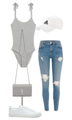 """Untitled #5359"" by lilaclynn ❤ liked on Polyvore featuring Monki, adidas, Common Projects, Yves Saint Laurent, YSL, saintlaurent and yvessaintlaurent"
