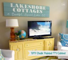 DIY Chalk Painted TV Cabinet #ontheblogtoday from @Ashley Walters Yoon Housie l Fresh Idea Studio #diy #furniture #painting #tipsandtricks #guestpost