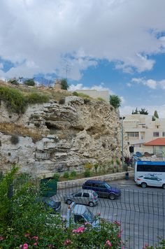 The Garden Tomb, Jerusalem, Israel. The site of the burial and resurrection of Jesus, was unearthed in 1867.