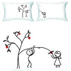 Love Grows For You Tree Pillow Case
