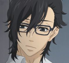 "Yamato, from the anime 'Say ""I Love You""' If every guy with glasses was like this...."