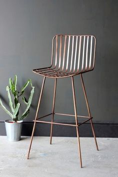 Midas Bar Stool - Dark Antique Copper from rockettstgeorge
