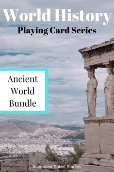 These playing cards can be used in any activity you can think of or be played in any game you wish. Major ancient civilizations replace the card suits and each card has a piece of information important for students to know. The full bundle is available and includes the original four suits plus all of the add-ons for the ancient world, giving you so many more ways to play. Get the details in my TpT store. #historygame #playingcards