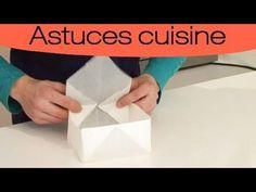 Faire votre propre moule en papier sulfurisés - YouTube Cooking Chef, Baking Tips, Kitchen Hacks, No Bake Cake, Food Hacks, Origami, Diy, Cake, Recipes
