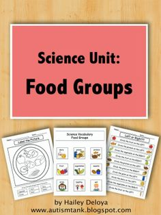 Science Unit Preview: Food Groups