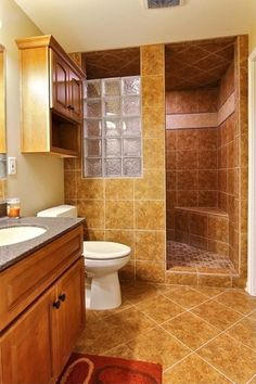 Traditional 3/4 Bathroom with Undermount sink, Simple granite counters, Toto drake ii two piece toilet, Raised panel