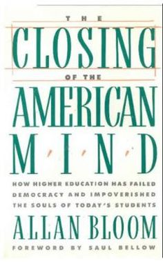 """In his 1987 book, Bloom, then a professor of political science and philosophy at the University of Chicago, issues a scathing critique of how America educates its young people and the decline of intellectuality in national life in general. He critiques the contemporary university, saying it is failing students. A chief point of Bloom's argument is that the """"great books"""" of Western thought — those by philosophers such as Rousseau, Locke and Nietzsche whose names are better known than their…"""