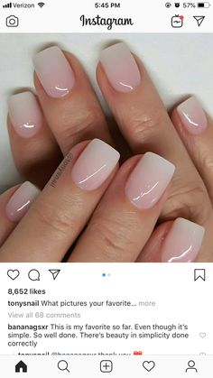 Gel Nails 10 Cute & Stylish Summer Nails for 2019 Baby Girl - Baby Pink Creme Nail Polish Cute Acrylic Nails, Cute Nails, Pretty Nails, Acrylic On Natural Nails, Short Natural Nails, Frensh Nails, Hair And Nails, Nail Nail, Milky Nails