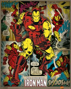 Marvel Comics (Iron Man Retro) Mini Poster at AllPosters.com