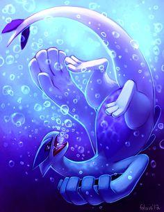 Atomicfishbowl, Nintendo, GAME FREAK, Pokémon, Lugia, Underwater