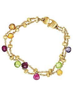 Marco Bicego - 2 Row Mixed Stone Paradise Bracelet - at - London Jewelers