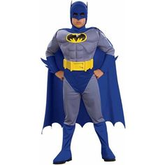 Brave and the Bold Batman Muscle Costume features a Batman jumpsuit with accessories. A headpiece and cape complete our Batman Muscle Costume for boys. Batman Costume For Boys, Batman Halloween Costume, Batman Costumes, Toddler Halloween Costumes, Boy Costumes, Super Hero Costumes, Halloween Kostüm, Adult Costumes, Kids Batman