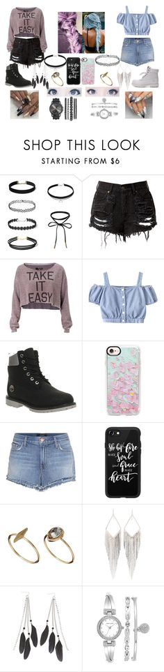 """""""Look_62"""" by pirigoticafofis on Polyvore featuring moda, Rebel Yell, Timberland, Casetify, J Brand, ASOS, Jules Smith, Charlotte Russe e Anne Klein"""