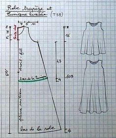 tuto robe trapèze ou tunique évasée