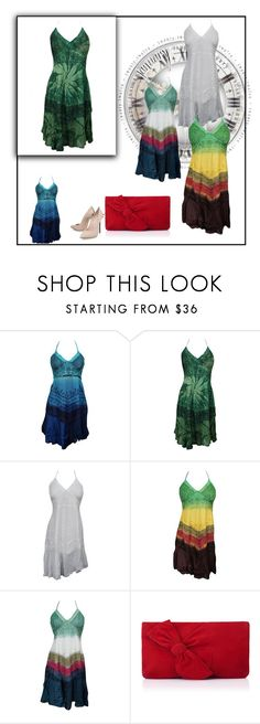 """""""Bohemian Halter Beach Sundress"""" by boho-chic-2 ❤ liked on Polyvore featuring L.K.Bennett and Casadei"""