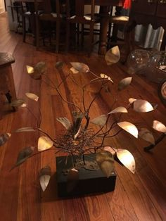 #art Mid Century sculpture by Jere. Excellent condition!!! Rare!! Brass Birds Nest please retweet