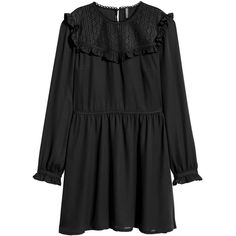 Chiffon Dress $39.99 (9.955 HUF) ❤ liked on Polyvore featuring dresses, flouncy dress, chiffon ruffle dress, ruffle dress, flutter-sleeve dresses and button dress